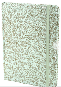 Ecoleatherette A5 Ruled Notebook - Flowers
