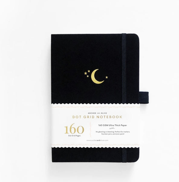 Archer & Olive A5 Crescent Moon Dot Grid Notebook