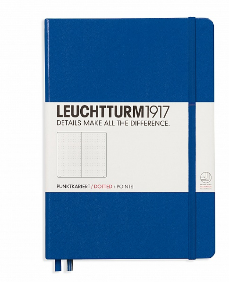 Leuchtturm 1917 A5 Dot Grid Notebook - Hard Cover - Royal Blue