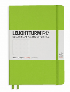 Leuchtturm 1917 A5 Dot Grid Notebook - Hard Cover - Lime