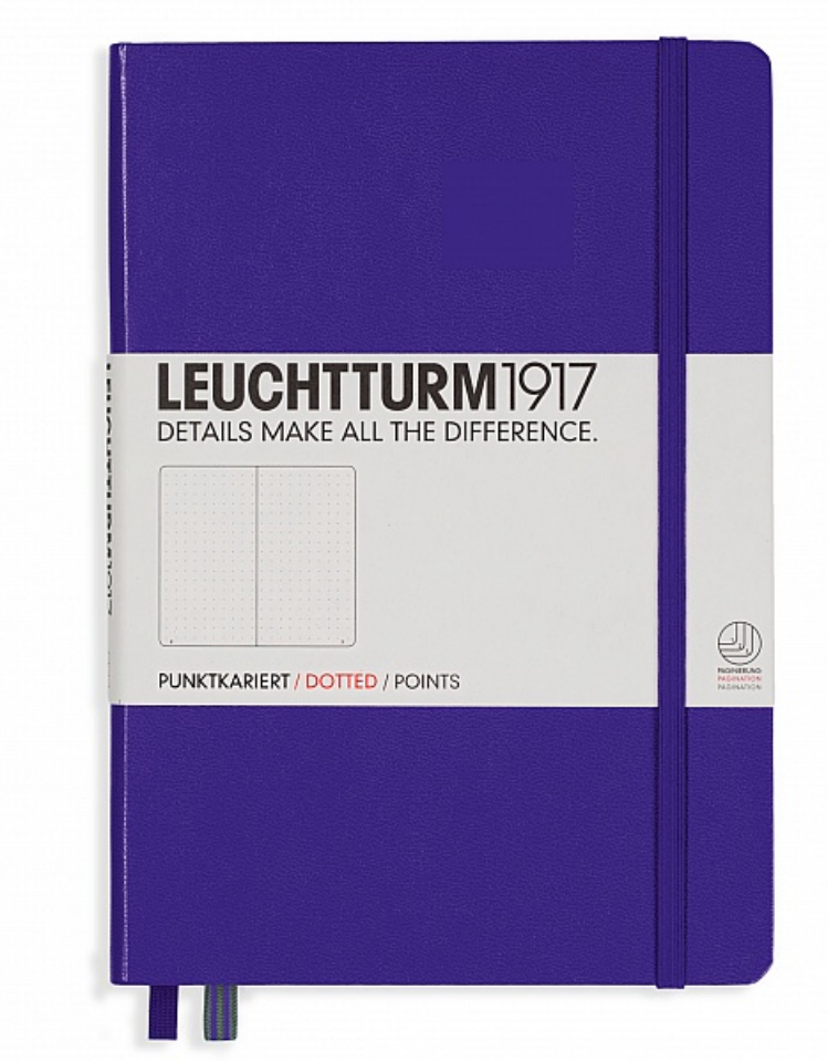 Leuchtturm 1917 A5 Dot Grid Notebook - Hard Cover - Purple