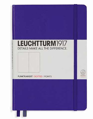 Leuchtturm 1917 A5 Dot Grid Journal Notebook for Bullet Journaling - Hard Cover - Purple