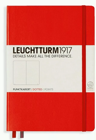 Leuchtturm1917 A5 Dot Grid Notebook - Hard Cover - Red