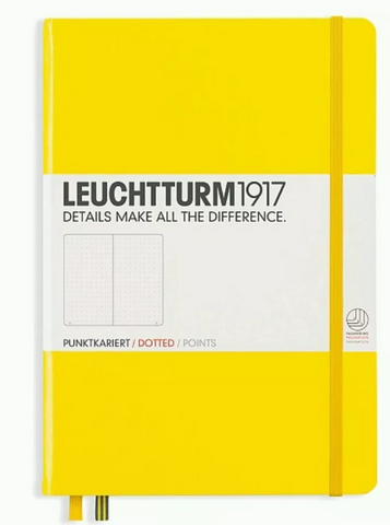 Leuchtturm1917 A5 Dot Grid Notebook - Hard Cover - Yellow