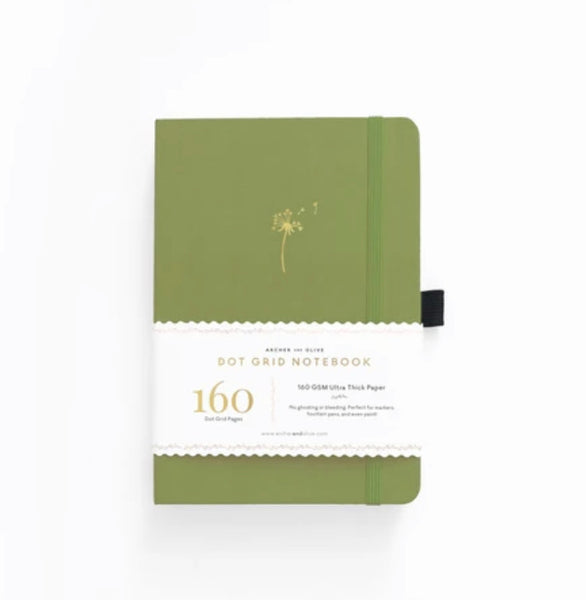 Archer & Olive A5 Dandelion Dot Grid Notebook
