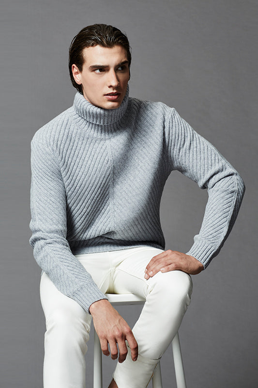 Chevron Roll Neck