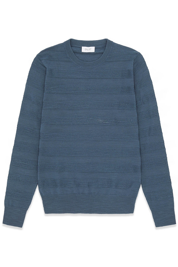 Striped Merino Wool Jacquard Sweater
