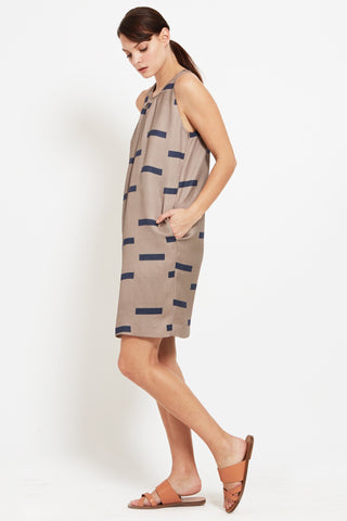 Alicia Dress: Printed Crepe Dress