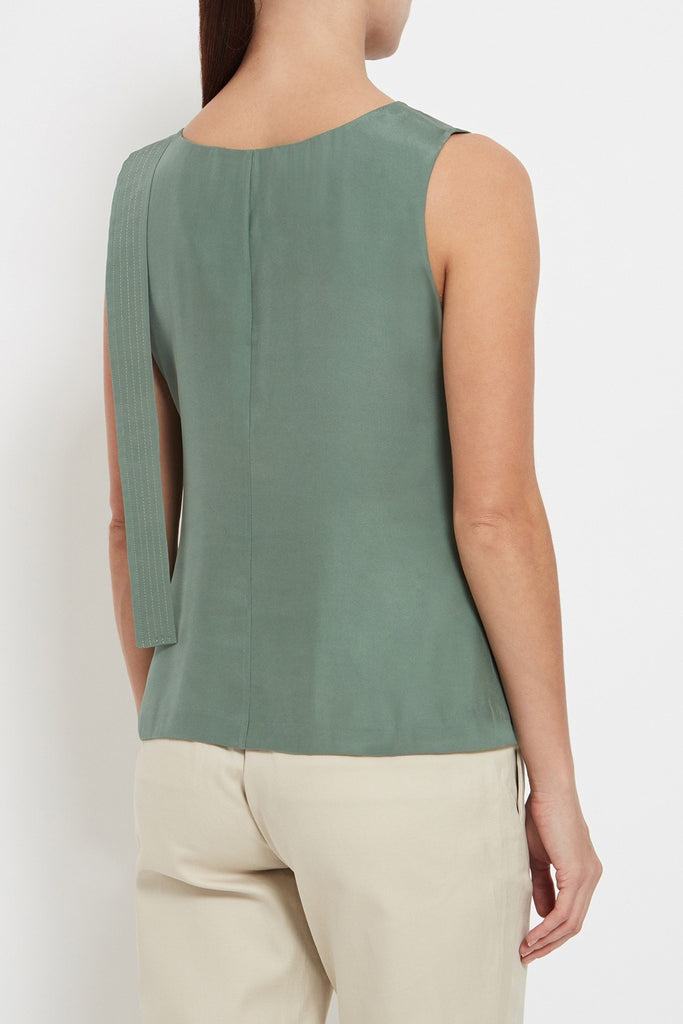 Eloise Top: Washed Silk Satin Top