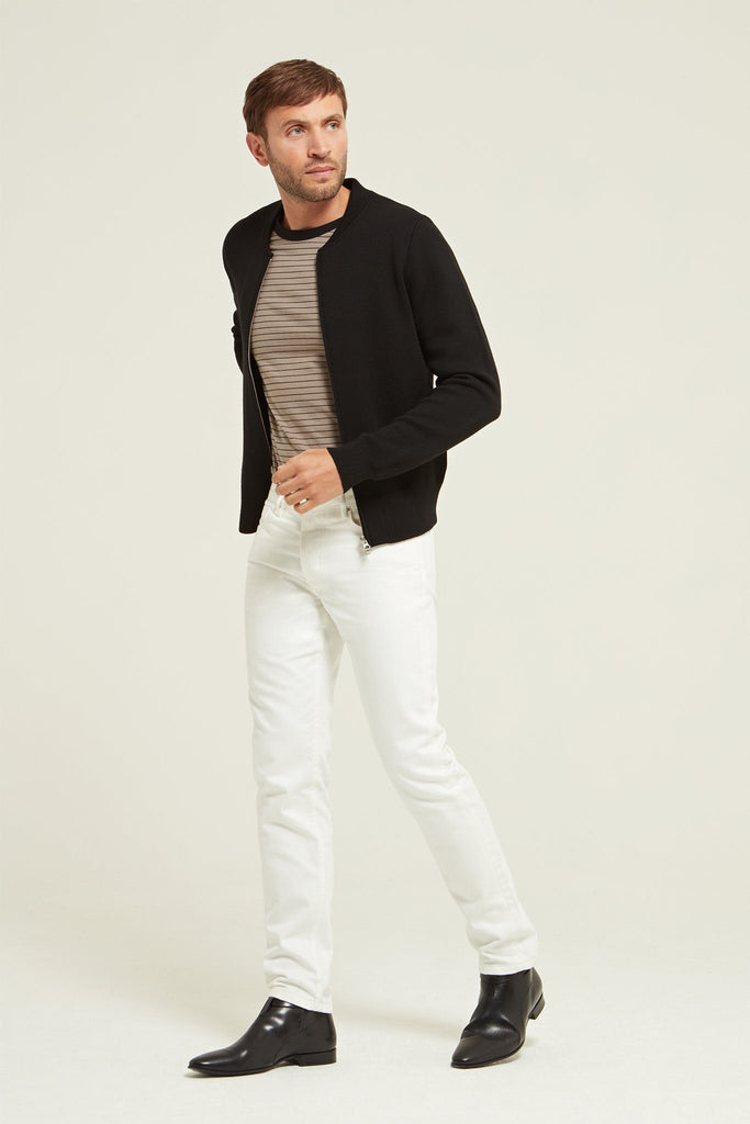Merino Wool Zip Up Bomber