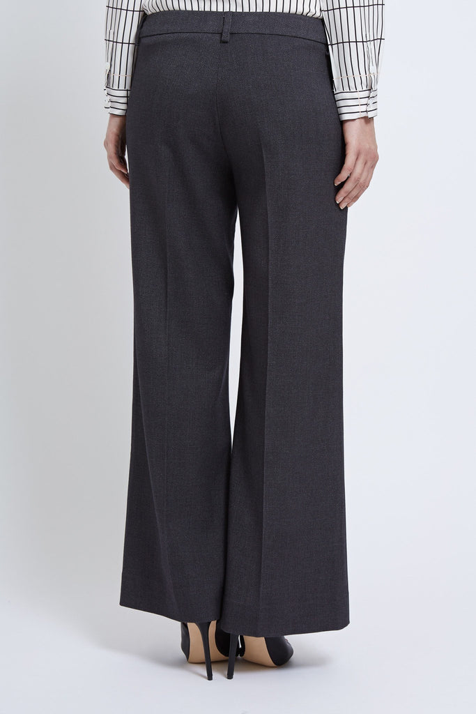 womens trousers grey wide- leg tailored luxury designer