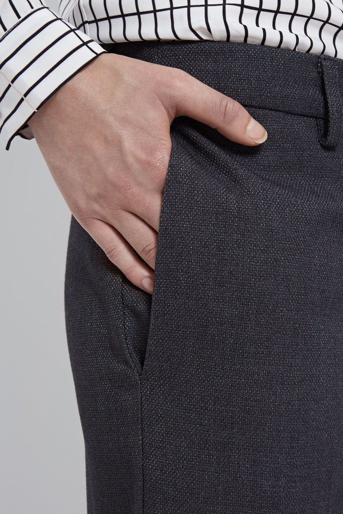 womens trousers grey wide- leg tailored luxury pockets