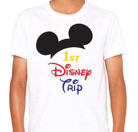 My First Disney Trip Shirt . Disney Family Shirts. Disney Vacation Shirts .