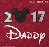 Disney Family Vacation 2017 T-shirt in Cardinal Red