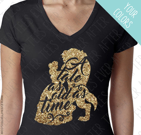 A tale as old as time. Beauty and the Beast inspired t-shirt.