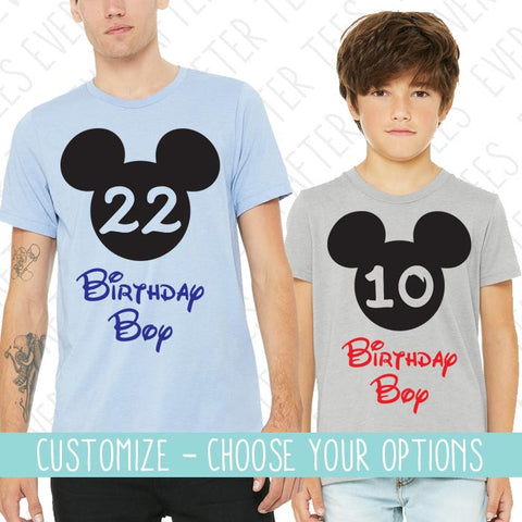Birthday Boy Shirt | Birthday Boy in Disney Shirt | Disney Vacation Birthday T-shirt