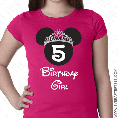 Princess Birthday Shirt . Birthday Girl Disney Shirt . Disney Birthday T-shirt .