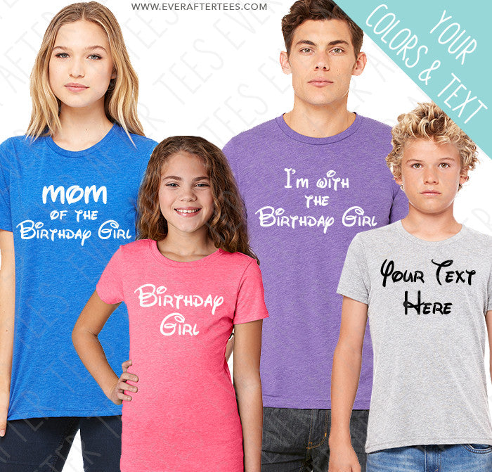 Disney Inspired Font Family Vacation Shirts
