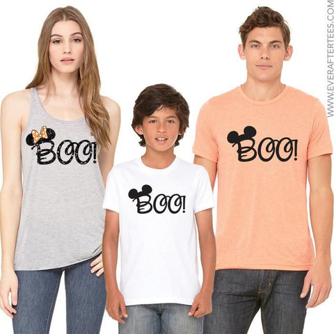 MNSSHP Boo Family T-shirts . Disney Halloween Family Vacation . Matching Halloween Disney Shirts .