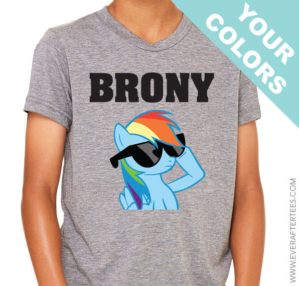 Brony Shirt. Custom My Little Pony Shirt . Rainbow Dash Shirt .