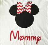 Chevron Bow Family Vacation Tees . Ears with Chevron Bows . Family Vacation . Matching Disney Shirts