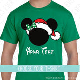 Santa Mouse Ears with a Bow - Matching Family Christmas T-Shirts