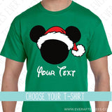 Santa Mouse Ears - Matching Family Christmas T-Shirts