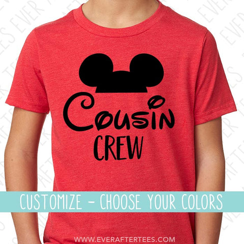 Cousin Crew Mouse Ear T-shirts | Mickey Mouse Cousin Tees | Matching Shirts for the Whole Family | Disney Family Vacation | Disney is Better With Your Cousins