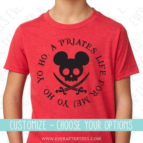 Yo Ho Yo Ho A Pirate's Life for Me Shirts | Matching Disney Cruise Pirate Night T-shirts | Disney Cruise Shirts for the Whole Family