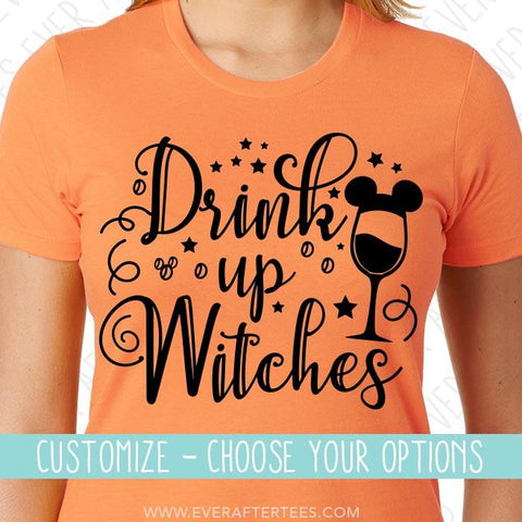 Drink Up Witches T-shirts | Epcot Food and Wine Festival Halloween Matching Tanks | Matching Family T-shirts for Mickey's Not So Scary Halloween Party