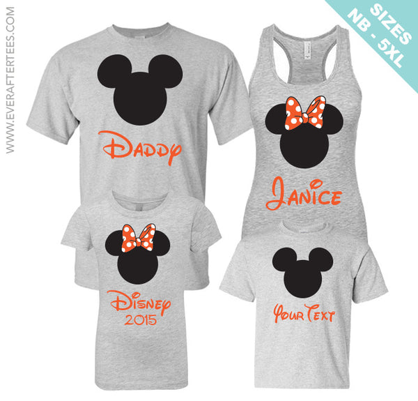 Halloween Polka Dot Disney Family Vacations Shirts