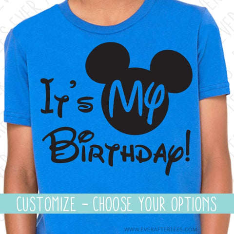 It's My Birthday! Mouse head t-shirt . Birthday in Disney tee