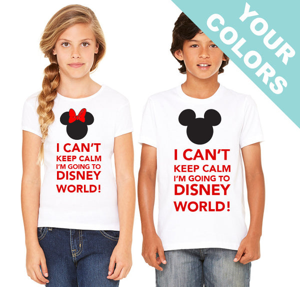 Keep Calm Disney Shirts . Disney Family Shirts. Disney Vacation Shirts .