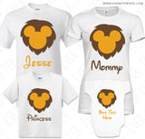 Disney Mickey Lion King Animal Kingdom Family Vacation T-Shirts