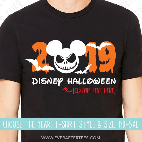 Jack 2019 Disney Vacation T-shirts | MNSSHP Vacation Shirt | Matching Black Halloween Disney Shirts for the Whole Family | Choose your year 2020, or 2021