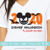 Jack Year Disney Vacation T-shirts | MNSSHP Vacation Shirt | Matching Halloween Disney Shirts for the Whole Family | Choose your year 2019, 2020, or 2021