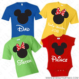 Polka Dot Minnie or Mickey Inspired Disney Family Vacation T-shirts . Matching Disney Family Tees . Family Disney T-shirts