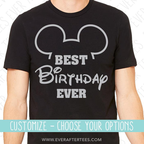Mouse Ears Best Birthday Ever T-shirt | Show off to Mickey with Matching Birthday in Disney Shirts | Group Birthday Disney Squad Tank Top | Customize