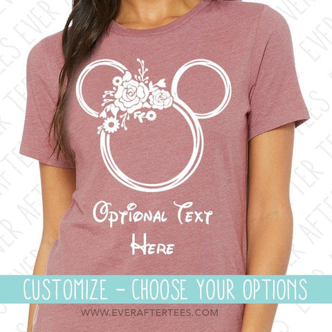 Flower and Garden Festival Mouse Ears Shirt | Matching Family Disney Vacation Tees | Floral Mickey Tank or T-Shirt