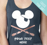 CUSTOMIZE Light Saber Pirate Tees - Matching Family Pirate Night Mickey Mouse Ears T-shirts