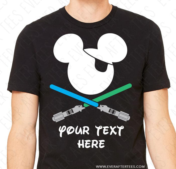 *NEW* CUSTOMIZE Light Saber Pirate Tees - Matching Family Pirate Night Mickey Mouse Ears T-shirts