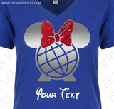 Customize - Epcot Minnie Mouse Ears Shirt . Choose Your T-shirt & Colors
