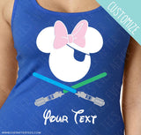 CUSTOMIZE Light Saber Pirate Tees - Matching Family Pirate Night Minnie Mouse Ears T-shirts