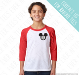 Monogram Disney Family Vacation Chest Logo Tees