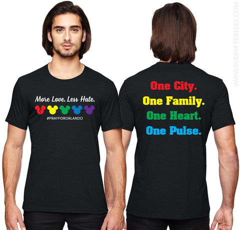 Orlando Strong Shirt . Pray for Orlando Shirt . More Love Less Hate . One City One Family One Heart One Pulse Shirt .