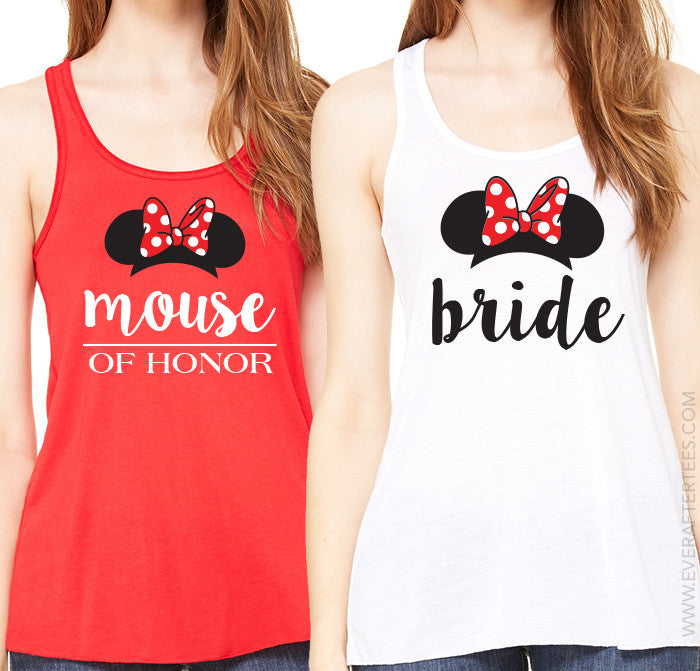 Disney Bride Shirt . Disney Bachelorette Party Shirts . Mouse of Honor . Minnie Bride . Minnie Bridesmaid .