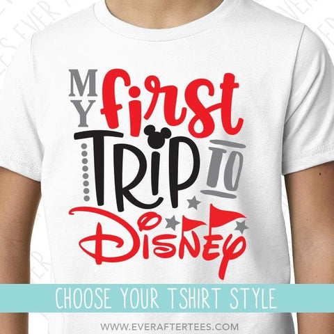 Youth My First Trip to Disney T-Shirt | Matching Disney Family Vacation T-shirts