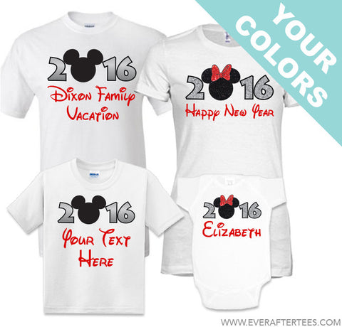 89fe9aa8 The ORIGINAL New Years in Disney 2019, 2020 Family Vacation Tees. Matching  Mouse Ears