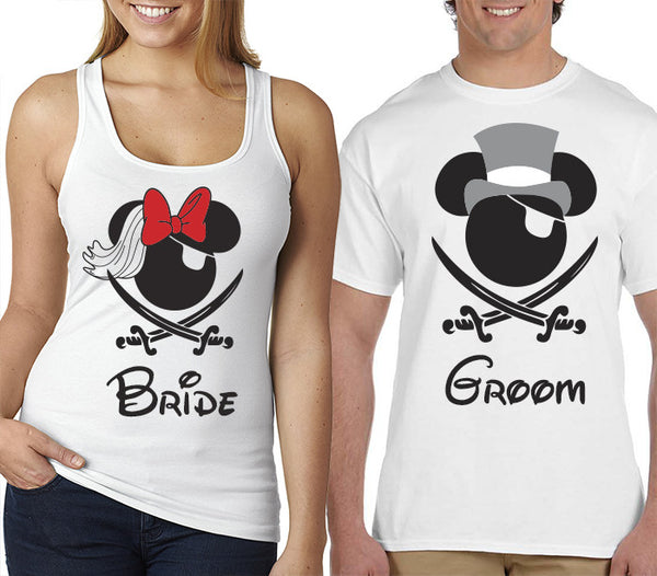 Bride and Groom Pirate Night T-Shirts