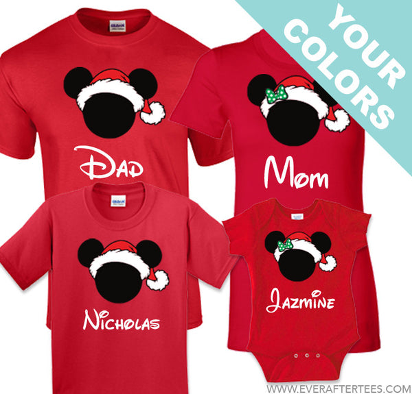 Red Disney Family Christmas Shirts . MVMCP t-shirts . Disney Family Vacation Shirts.